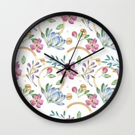 Coffee On The Table Cloth Wall Clock