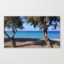 The Perfect Greek Beach Canvas Print