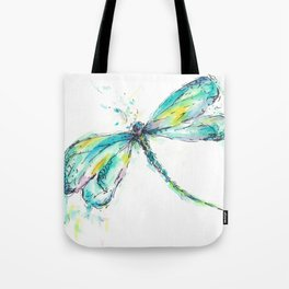 Watercolor Dragonfly Tote Bag
