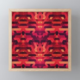 Abstract red geometric triangle texture pattern design (Digital Futrure - Hipster / Fashion) Framed Mini Art Print