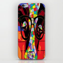 Spectacled Cow iPhone Skin