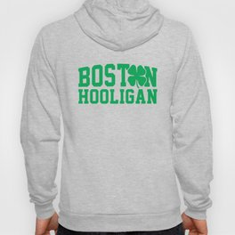 Boston Hooligan Green Shamrock St Patricks Day Cool Hoody