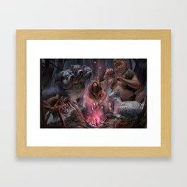 Hagrid and Beast Framed Art Print