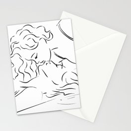 Minas - Minimal Female kiss Stationery Cards