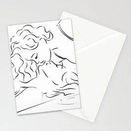 Minas - Minimal Female kiss Stationery Cards