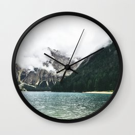 Smokey Foggy Scenery Mountain View Wall Clock