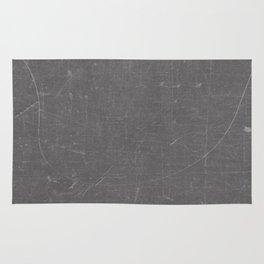 Gray and White School BlackBoard Rug