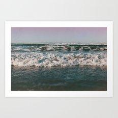 Ocean Crash Art Print