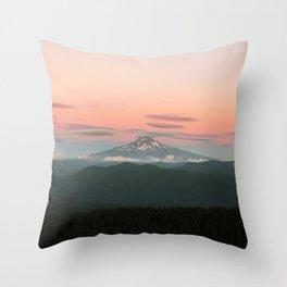 Hood Sunset Throw Pillow