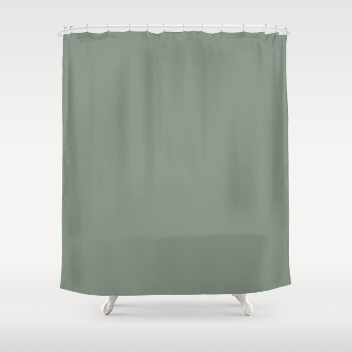 Green Pantone #839182 Shower Curtain