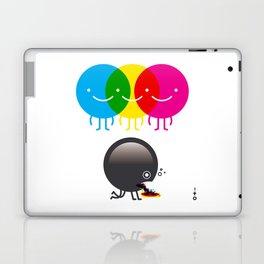 CMY makes K dizzy Laptop & iPad Skin