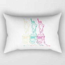 Triple Statue of Liberty Rectangular Pillow