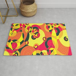YIELD STOP ROUNDABOUT Rug