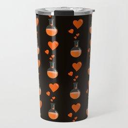 Love Chemistry Flask of Hearts Pattern Travel Mug
