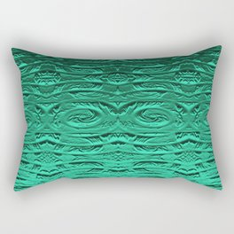 Tropical Green Terracotta Etching Rectangular Pillow