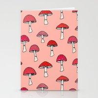 mushroom Stationery Cards featuring Mushroom by Abby Galloway