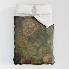 Still Life with Flowers and Fruits, Albertus Jonas Brandt (1816 - 1817) Comforters