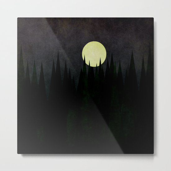 A Moonlit Forest Metal Print