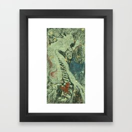 The visit  Framed Art Print