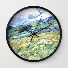 Vincent Van Gogh - Landscape from Saint Remy Wall Clock