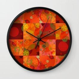"""""""Circles & Flowers Cartoon"""" Wall Clock"""
