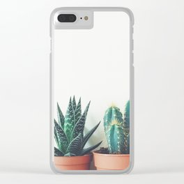 Potted Plants Clear iPhone Case