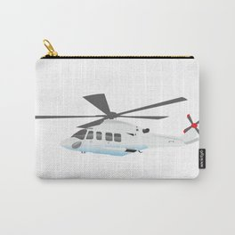 White and Grey Helicopter Carry-All Pouch