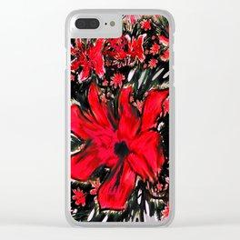 Redder Flower Clear iPhone Case
