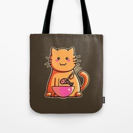 A cat's favourite meal Tote Bag