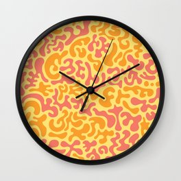 Social Networking (Peaches) Wall Clock