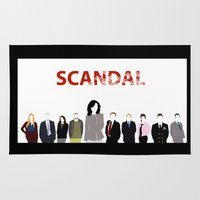 scandal Area & Throw Rugs featuring Scandal Minimalism by Bel17