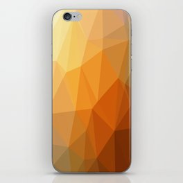 Shades Of Orange Triangle Abstract iPhone Skin
