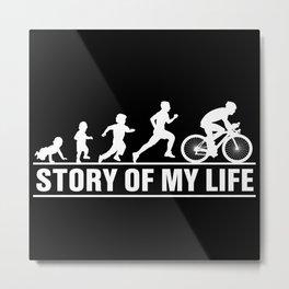Race Bike Evolution The Story Of My Metal Print