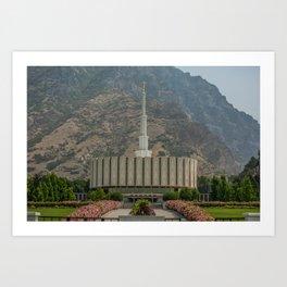 Provo Utah Mormon Temple Latter Day Saints Church Art Print