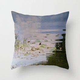 Impressionist Florida Lake View Throw Pillow
