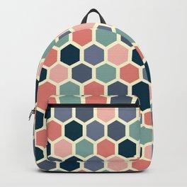 Colorful honeycomb design Backpack
