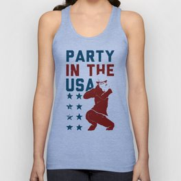 PARTY IN THE USA UNCLE SAM T-SHIRT Unisex Tank Top