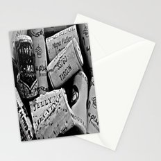 Uncorked B&W Stationery Cards