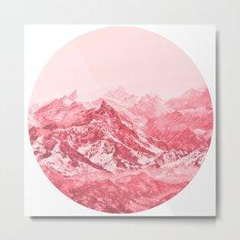 Mountains Red Metal Print
