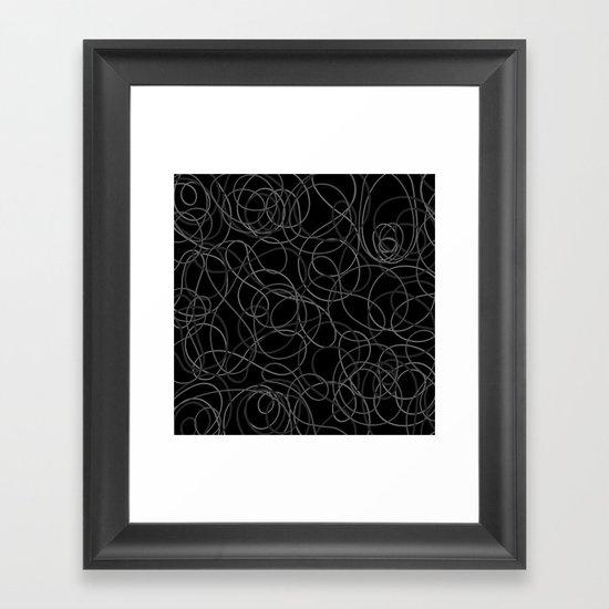 Time is elastic Framed Art Print