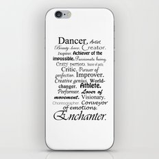 Dancer Description iPhone Skin