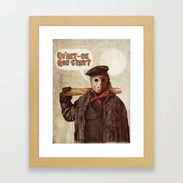 Psycho Killer Framed Art Print