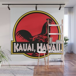 Kauai, Hawaii Jurassic Park Rooster Wall Mural