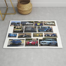 Historic Car Collage Rug