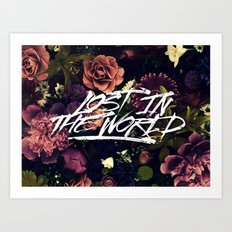 Lost in the world Art Print