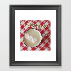 cup of hearts Framed Art Print