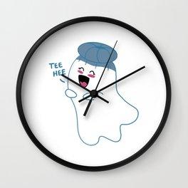 Little Ghost Jaunty Wall Clock