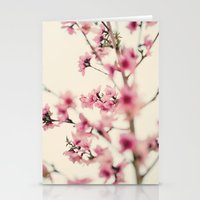 sakura Stationery Cards featuring Sakura by Laura Ruth