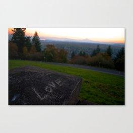 Love at Sunrise Over Mt. Hood Canvas Print