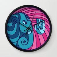 ganesha Wall Clocks featuring Ganesha by Karthik